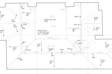 Attic 2D Floor Plan